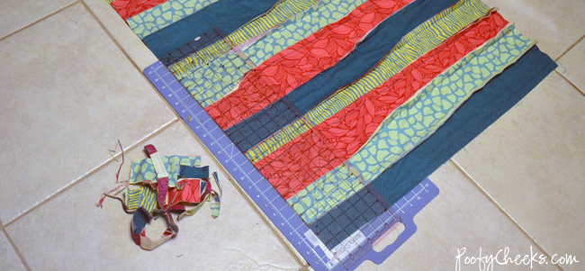Rag Quilt Sewing Tutoria - Crib Blanket