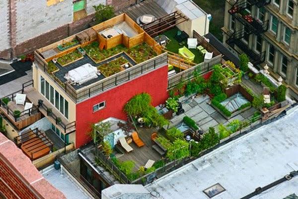 Sân thượng nhìn từ trên cao