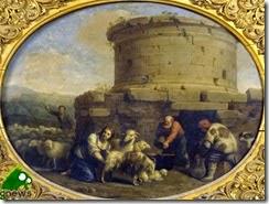 6 pastori e armenti presso un rudere