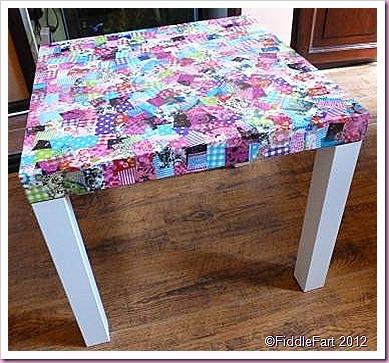 Decopatch Ikea Lack Side Table