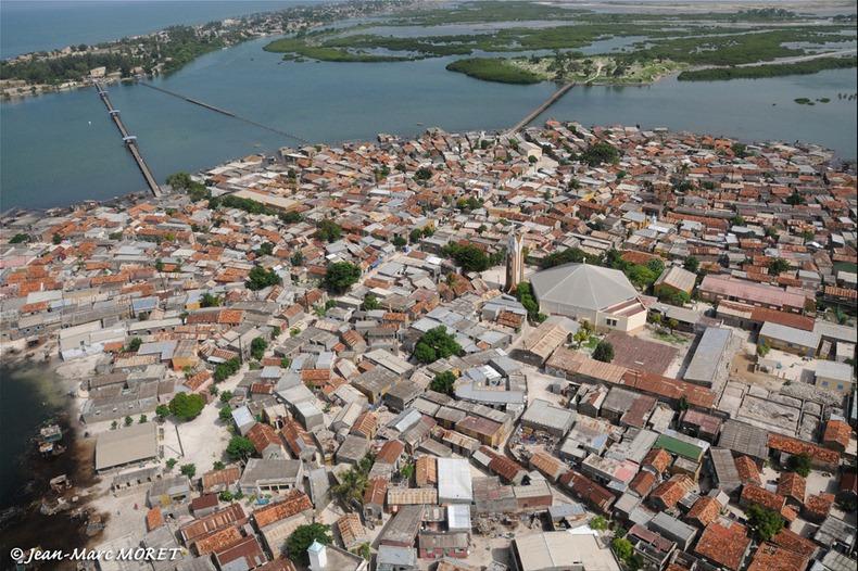 vue aérienne du sénégal, Joal - Fadiouth