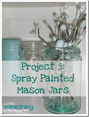 Spray Painted Mason Jars banner