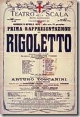 """Affiche de l'opéra """"Rigoletto"""""""