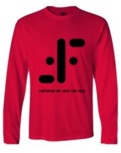 Camisetas divertidas con logo V los visitantes - venimos en son de paz