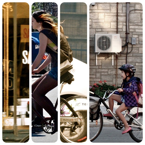 Toronto bicycle collage