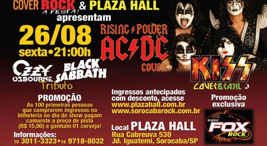 Cover Rock - Plaza Hall - dia 26/08