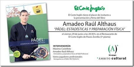Amadeo Althaus Presentación Libro Preparación Física en Madrid, El Corte Inglés, 29 junio 2012