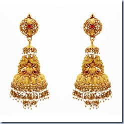 gold jhumka bridal