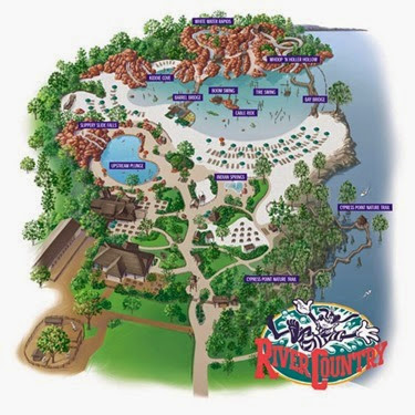 Disney's River Country Map