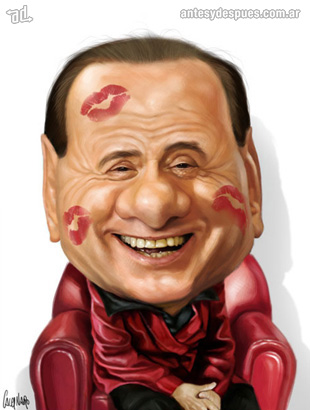 La caricatura de Silvio Berlusconi