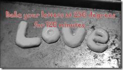 bake love letters