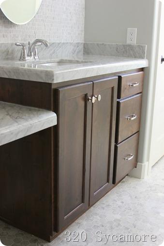 Luxury master bath cabinets