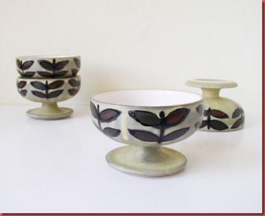 Vintage ceramic sundae dessert cups, bowls
