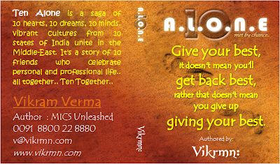 10 Alone by Vikrmn - Give your best - CA Vikram Verma