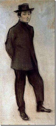 ramon casas i carbo_Retrato de Isidre Nonell_1898