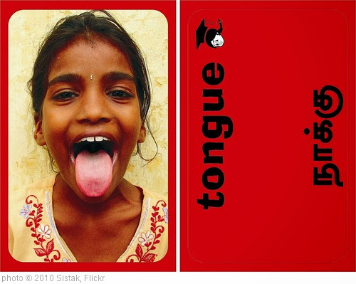'Aid India - Eureka English Team - Bilingual Body Parts Flashcard - Tongue' photo (c) 2010, Sistak - license: http://creativecommons.org/licenses/by-sa/2.0/