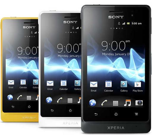 Smartphone Sony Xperia Go e Xperia Acro S com Android 4.0