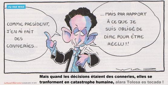 Nocolas Sarkozy e las catastrofas politicas
