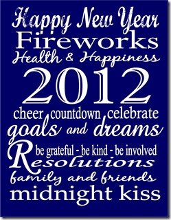 New Year Printable - Blue