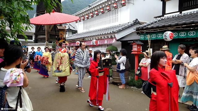 traditional Geisha parade at Edo Wonderland in Nikko, Totigi (Tochigi) , Japan