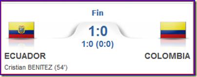 Ecuador 1-0 Colombia