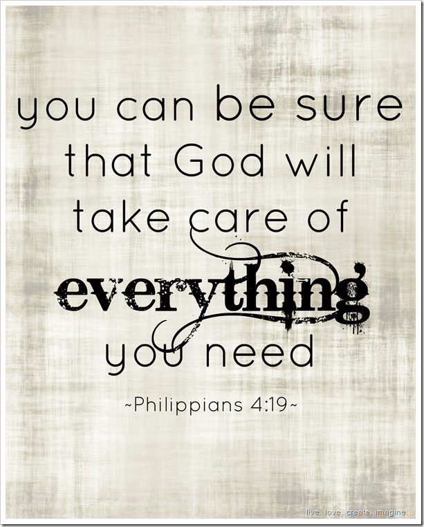 God will take care of everything