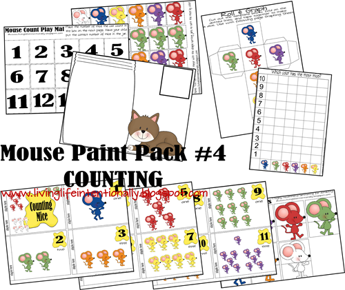 Mouse Paint Counting for Toddlers and Preschoolers