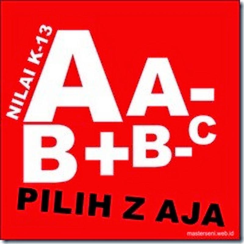 Kualitas Pendidikan A, B+, B, B-, C+, C, dan D