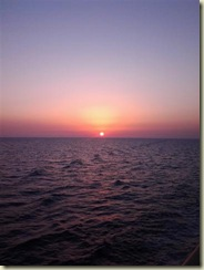 Sunset over Med Sailaway (Small)