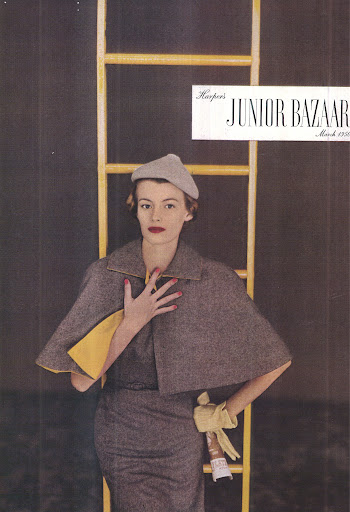 We got fantastic inspiration from a 50's issue of Junior Bazaar that made us think about lapels and 3D elements, which translated into Cheree Berry's tuxedo-inspired suite.