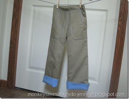 handmade flannel lined pants size 3T long (8)