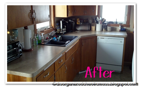 Kitchen Clutter After