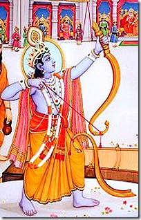 Rama lifting a bow