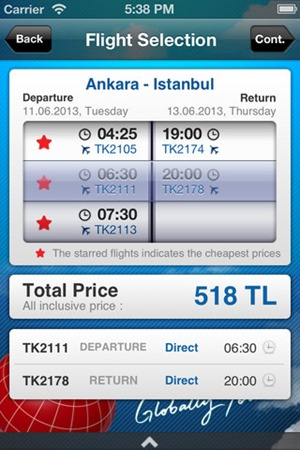 اي فون الخطوط التركية