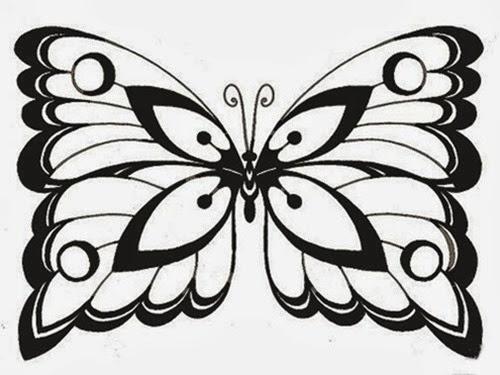 linda borboleta desenhar