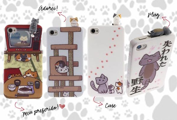 Capinha-Case-Iphone-Conjunto-Plug-Gatinhos