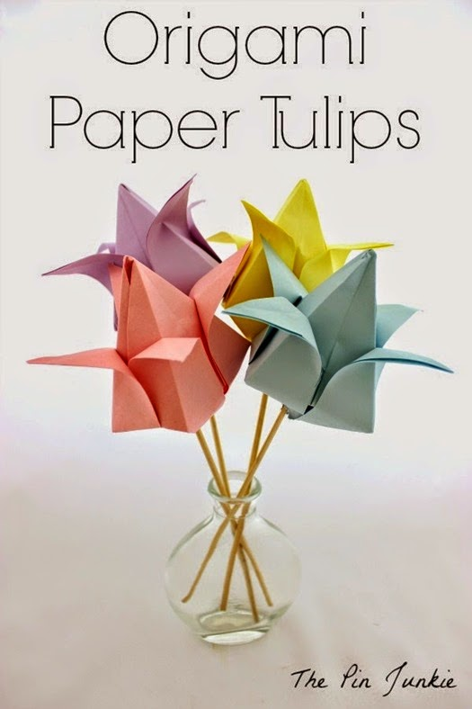 Origami Paper Tulips