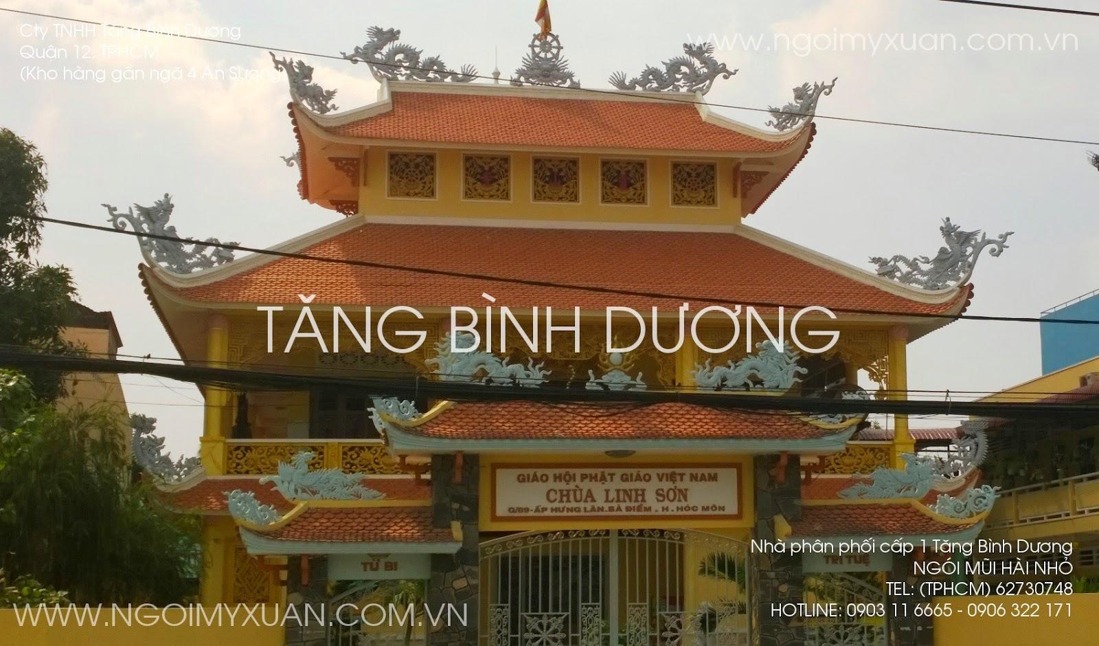 Mái chùa truyền thống lợp ngói mũi hài nhỏ
