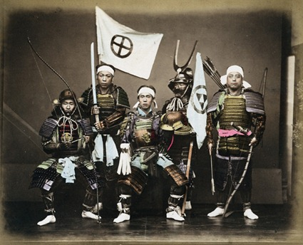 Hand-tinted samurai photo, c.1850s