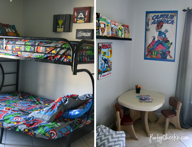 Poofy Cheeks: Shared Boys Bedroom: Avengers Super Hero Theme