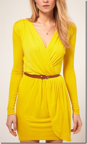 Exclusive Long Sleeve Belted Wrap Front Dress3