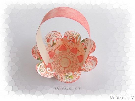 Handmade paper flower basket : Cards crafts kids projects handmade paper basket tutorial
