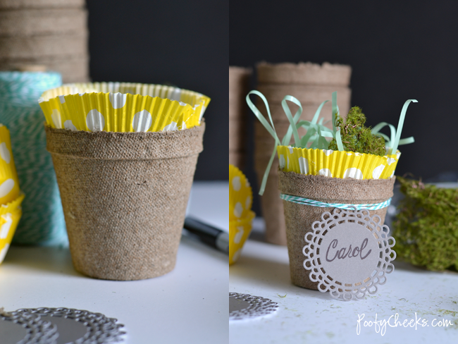 Mini Easter Basket Place Cards - Place Settings