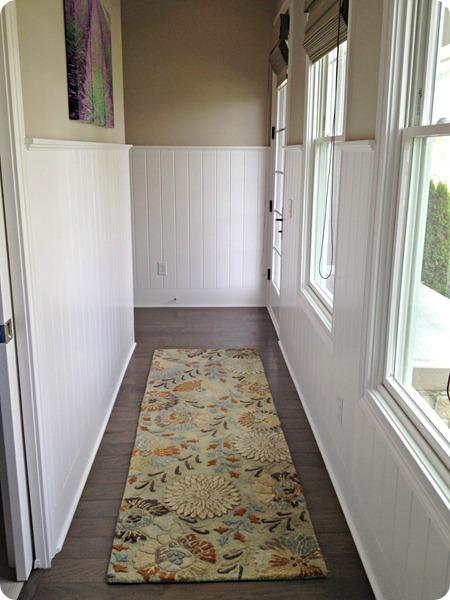 planked walls hallway