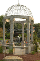 Corinth Twist Gazebo With Floor & Dome, Bainbrook Brown