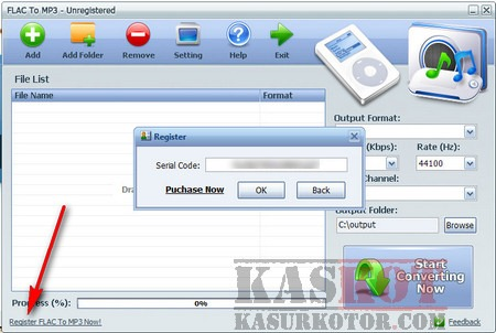 GRATIS Lisensi Original FLAC to MP3 Converter