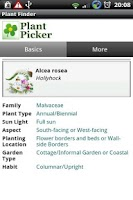 Screenshot of Plant Picker
