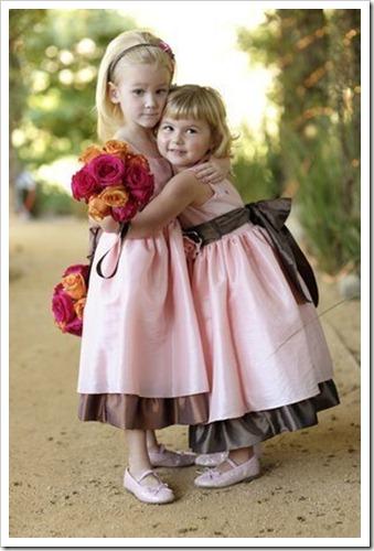 damas marrom e rosa