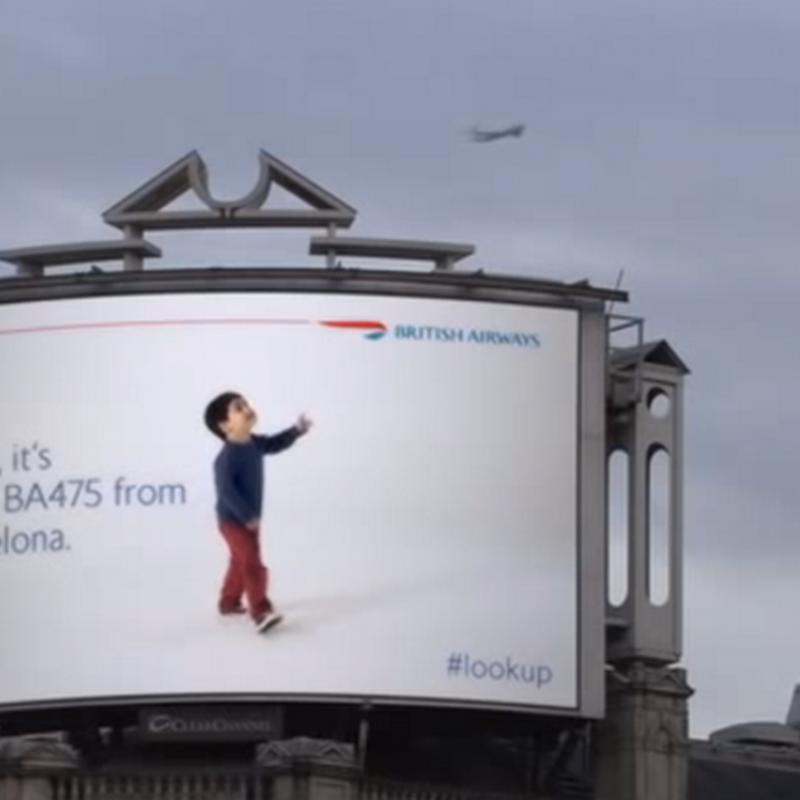 #lookup Increíble publicidad exterior de British Airways
