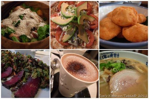 Mini Food Diary - Sep Oct 2012